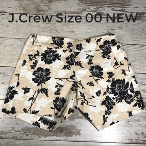 Shorts Size 00 J.Crew Stretch Floral NEW